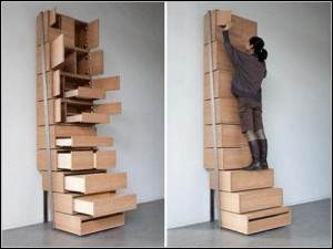 """Staircase"" Shelves from Danny Kuo"