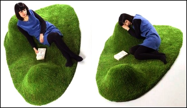 "Home ""Lawn"" With ""Hummock""-Cushions: Kana Nakanishi Launched Unusual Koke-a Carpet"