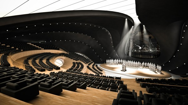 71 Futuristic Design of Music Center Building