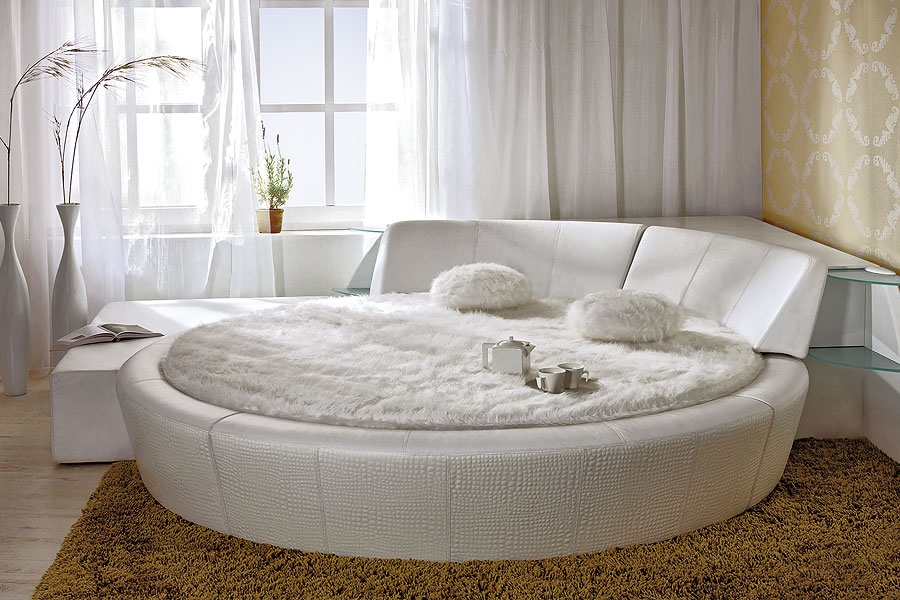 round bed Round Bed in Bedroom Interior