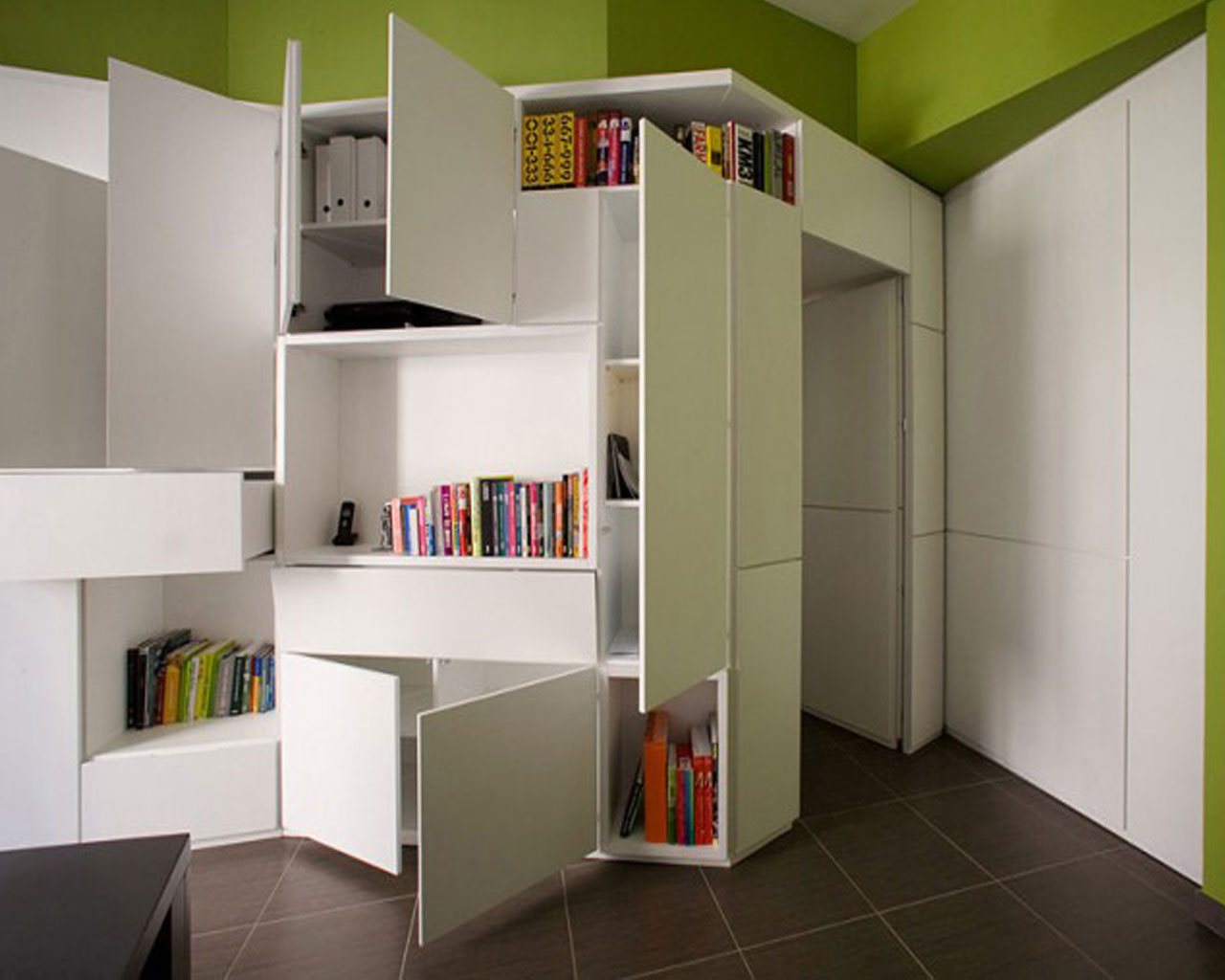 Storage ideas for a small apartment for Compact apartment ideas