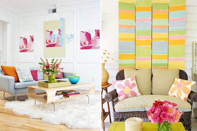 spring interior Five spring trends in interior design