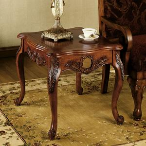 Bennett Carved Wood End Table