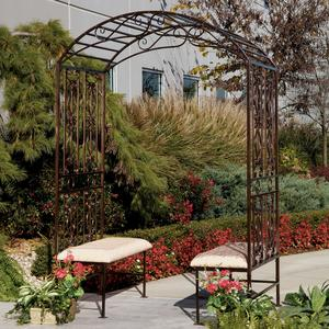 Savannah Metal Arbor With Double Bench