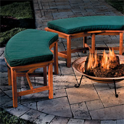 Acacia Fire Pit Bench