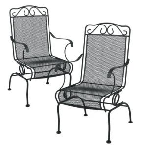 Plantation Patterns Napa Dinalounge Chairs 2pk In Charcoal