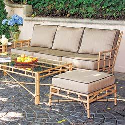 Aluminum Outdoor Sofa From Terra In Bamboo Design